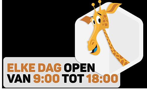 Elke dag open van 09:00 tot 18:00. Zonder reserveringen of tijdsloten.